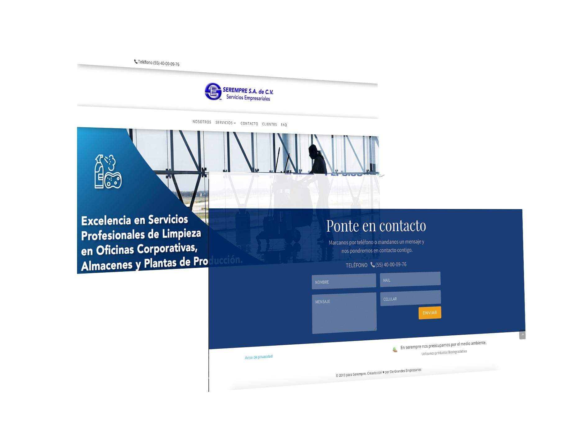 Desarrollo y diseño web de Serempre